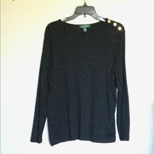 Lauren Ralph Lauren Stylish Black Sweater Size 1X